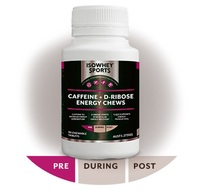 IsoWhey Sports Caffeine + D-Ribose Energy Chews (90 tabs)