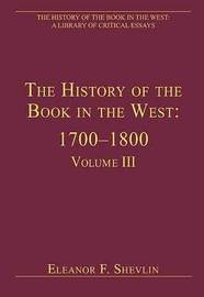 The History of the Book in the West: 1700-1800 image
