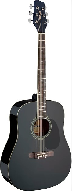 Stagg Dreadnought Acoustic Black