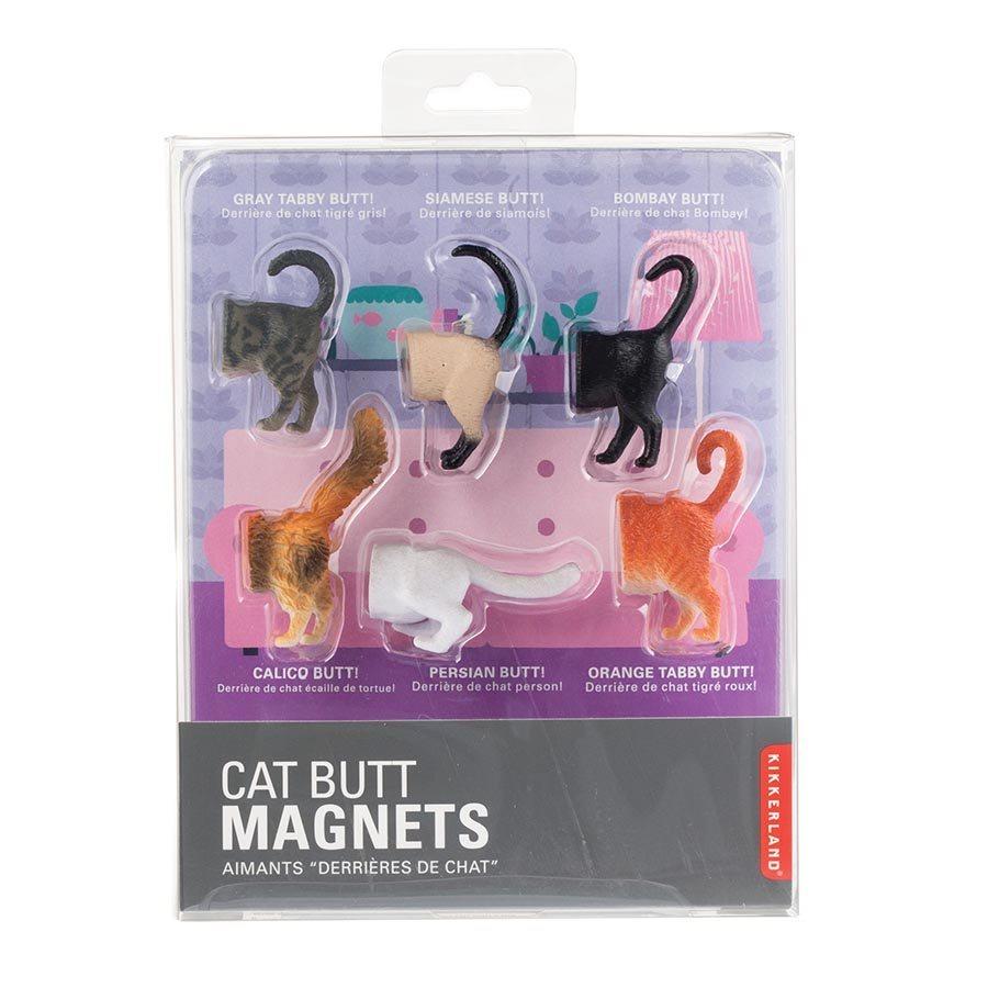 Kikkerland Cat Butt Magnets (set of 6) image