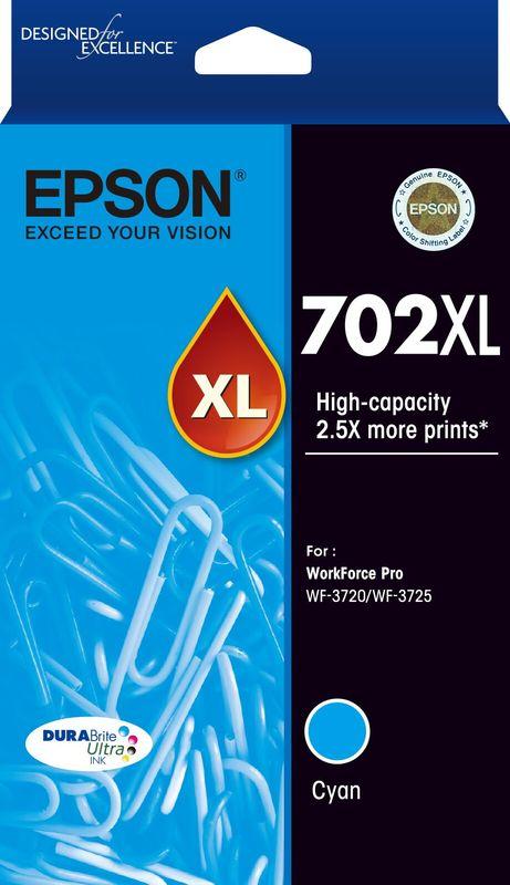 Epson 702XL Cyan Durabrite Ink