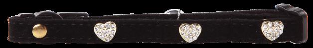 Pawise: Cat Collar - Diamond Heart/Black