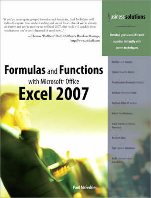 Formulas and Functions with Microsoft Office Excel 2007 by Paul McFedries image