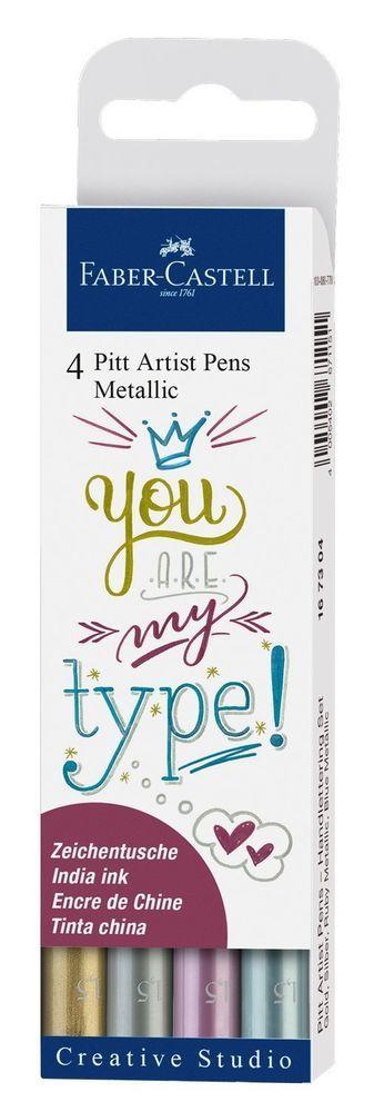 Faber-Castell: Pitt Artist Pens Metallic (Set of 4) image