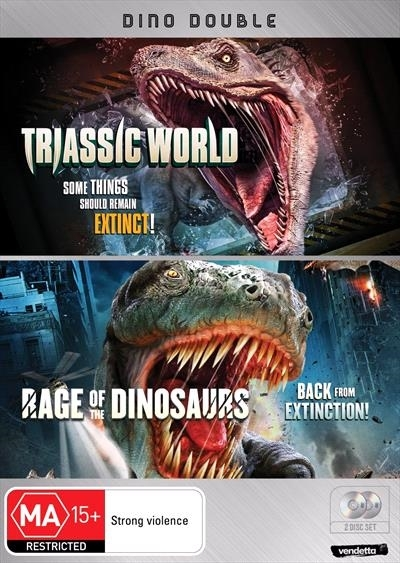 Dino Double: Triassic World & Rage of the Dinosaurs on DVD