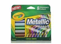 Crayola Metallic Markers 8pc