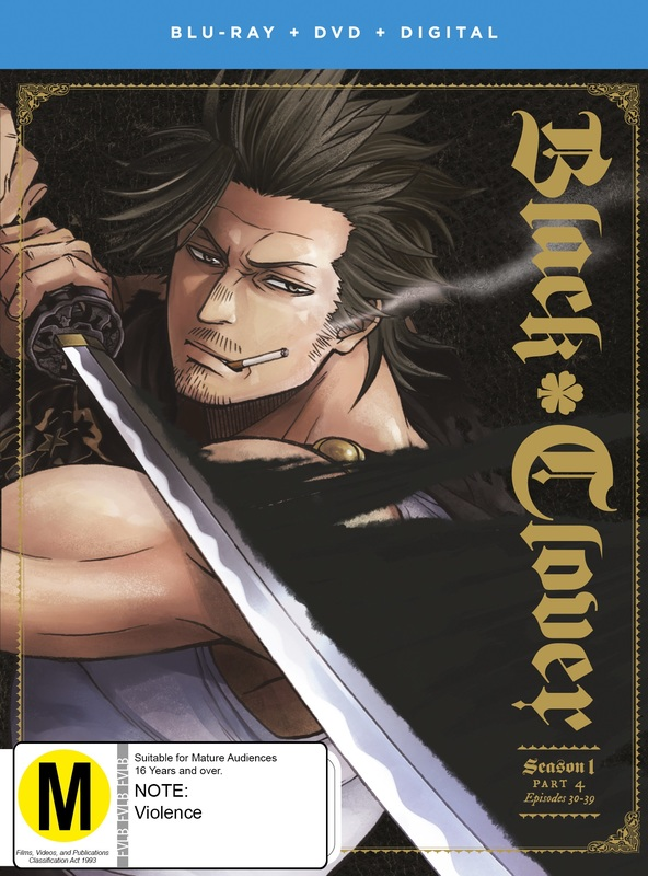 Black Clover Season 1 Part 4 (DVD / Blu-ray Combo) on DVD, Blu-ray, DC