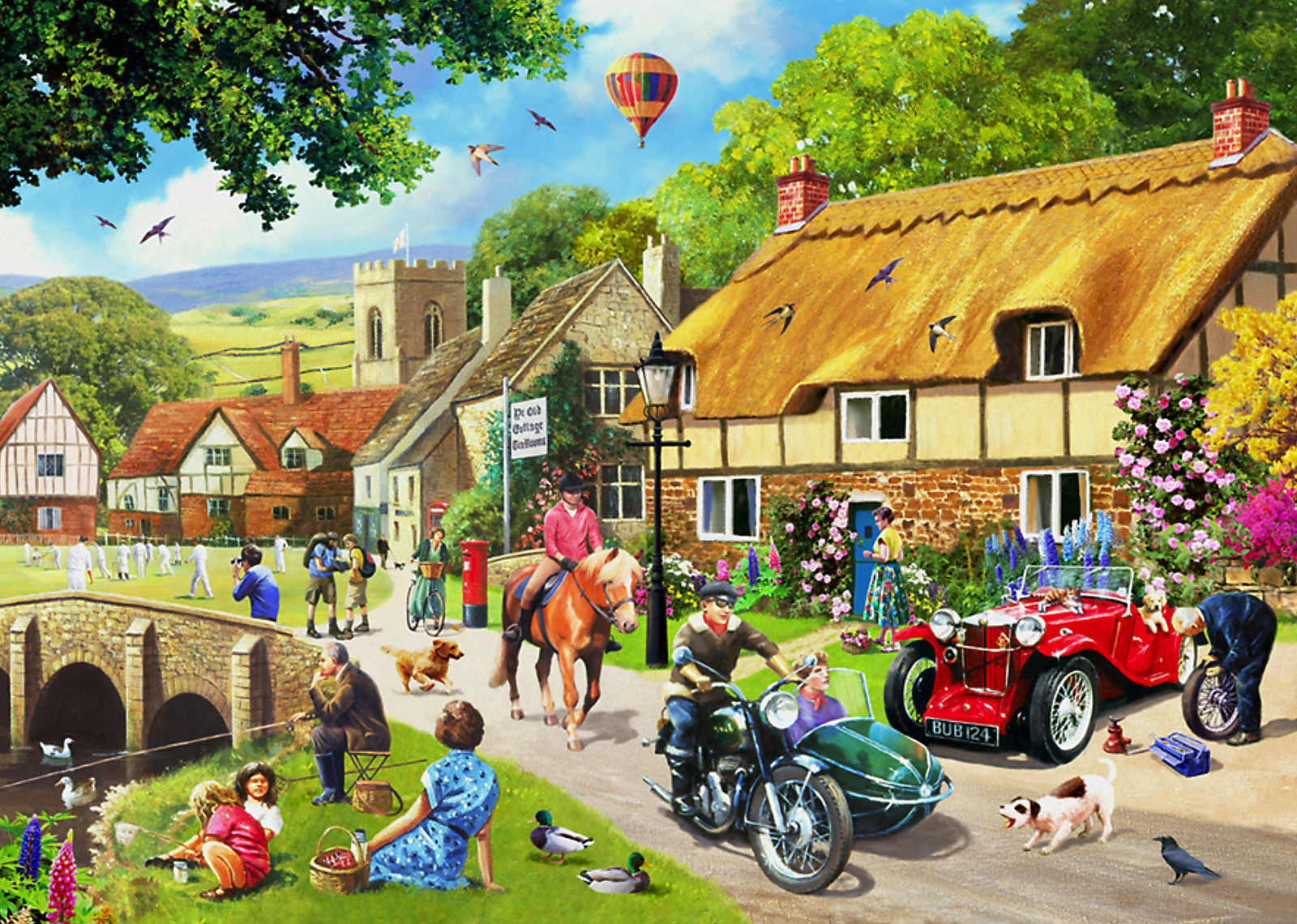 Holdson: 1000 Piece Puzzle - A Simple Way of Life - Summer Village image