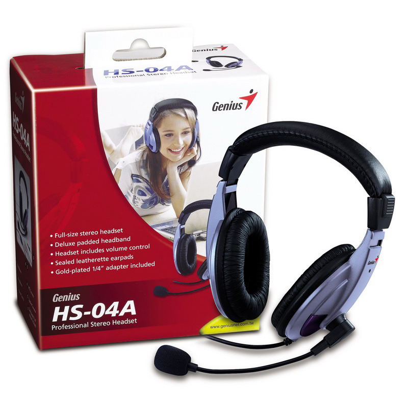 Genius: Full -Size Stereo/PC Headset HS-04A image