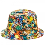 Pokemon Sublimated Bucket Hat