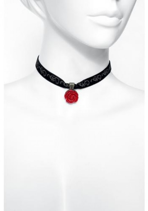 Neon Tuesday: Beauty & The Beast Live Action - Rose Choker Necklace image