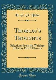 Thoreau's Thoughts by H G O Blake image