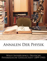 Annalen Der Physik by Wiley Interscience image