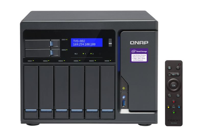 Qnap Tvs-882-I5-16G-450W 8-Bay Turbonas (No Disk), Sata 6G, Core I5-6500 3.6 Ghz, 16Gb Ram, 450W image