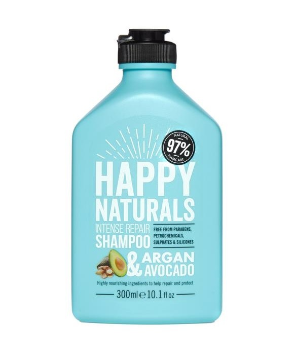 Happy Naturals: Intense Repair Shampoo - Argan & Avocado (300ml) image