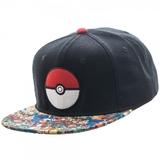 Pokemon Pokeball Sublimated Bill Snapback Cap