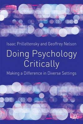 Doing Psychology Critically by Isaac Prilleltensky image