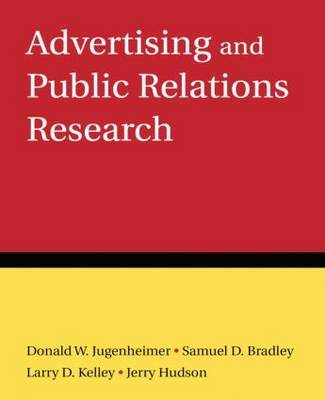 Advertising and Public Relations Research by Donald W Jugenheimer