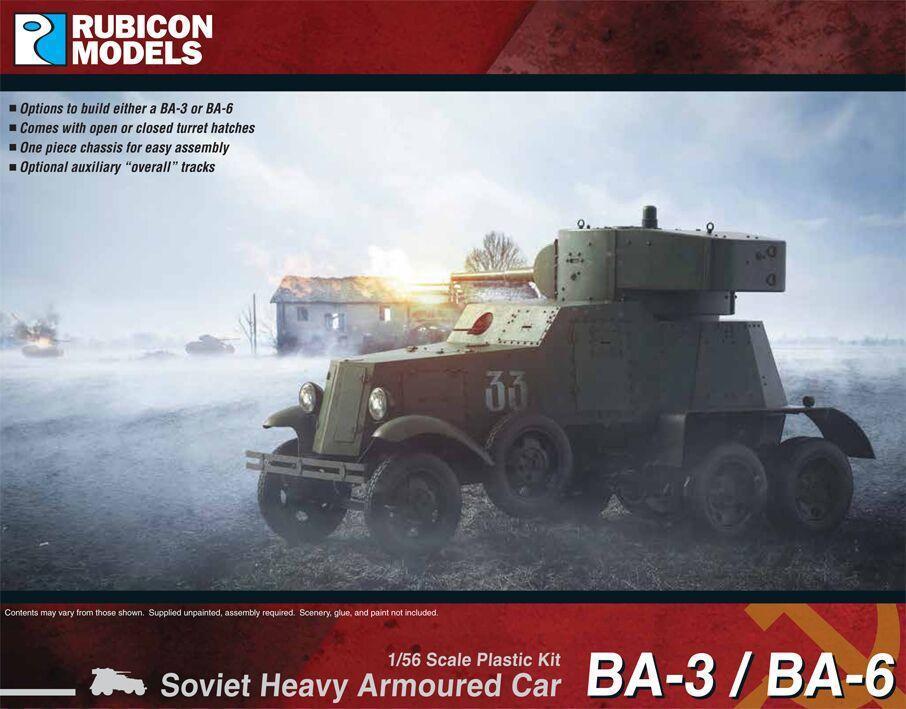 Rubicon 1/56 BA-3 / BA-6 Heavy Armoured Car image