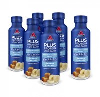 Atkins PLUS Protein-Packed RTD - Banana Caramel (Pack of 6) image