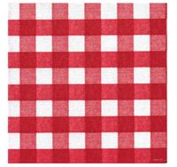 Francoise Paviot Napkins - Checks Red (20 Pack)