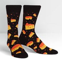 SOCK it to Me: Mens Crew Socks - Space Cheese