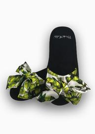 Frida Kahlo: Slide Slippers With Satin Bows - Bonito (UK 5-7) image