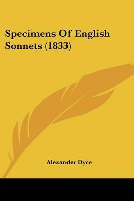Specimens Of English Sonnets (1833) image