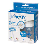 Dr Brown's 120ml Feeding Bottle with Level 1 Teat - Wide Neck - 2 Pack
