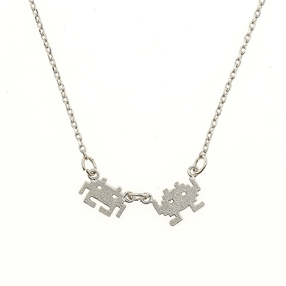 Short Story: Space Invaders - Silver Necklace image
