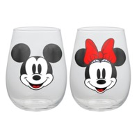 Disney: Mickey & Minnie - Contour Glass Tumbler Set (2-Pack)