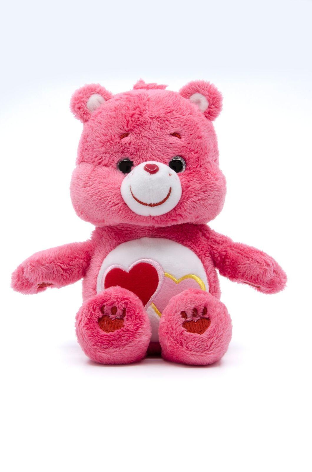 Care Bears: Love-a-Lot Bear - Small Beanie Plush image