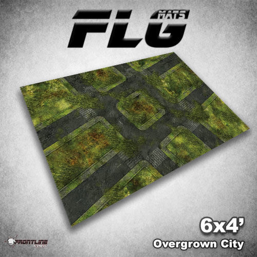 FLG Overgrown City #1 Neoprene Gaming Mat (6x4)