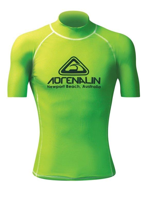 Adrenalin Hi-Vis Club Short Sleeve Rash Vest - Lime (Junior 10)