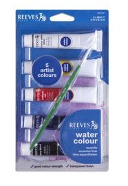 Reeves Water Colour Set of 5 + Brush