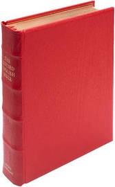 REB Lectern Bible, Red Imitation Leather Over Boards RE932:TB image