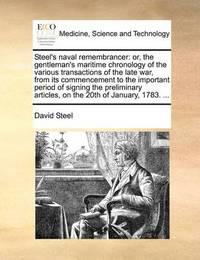 Steel's Naval Remembrancer by David Steel