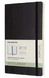 Moleskine Large Soft Cover 18 Month Weekly Planner - Black