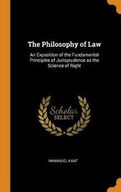 The Philosophy of Law by Immanuel Kant image
