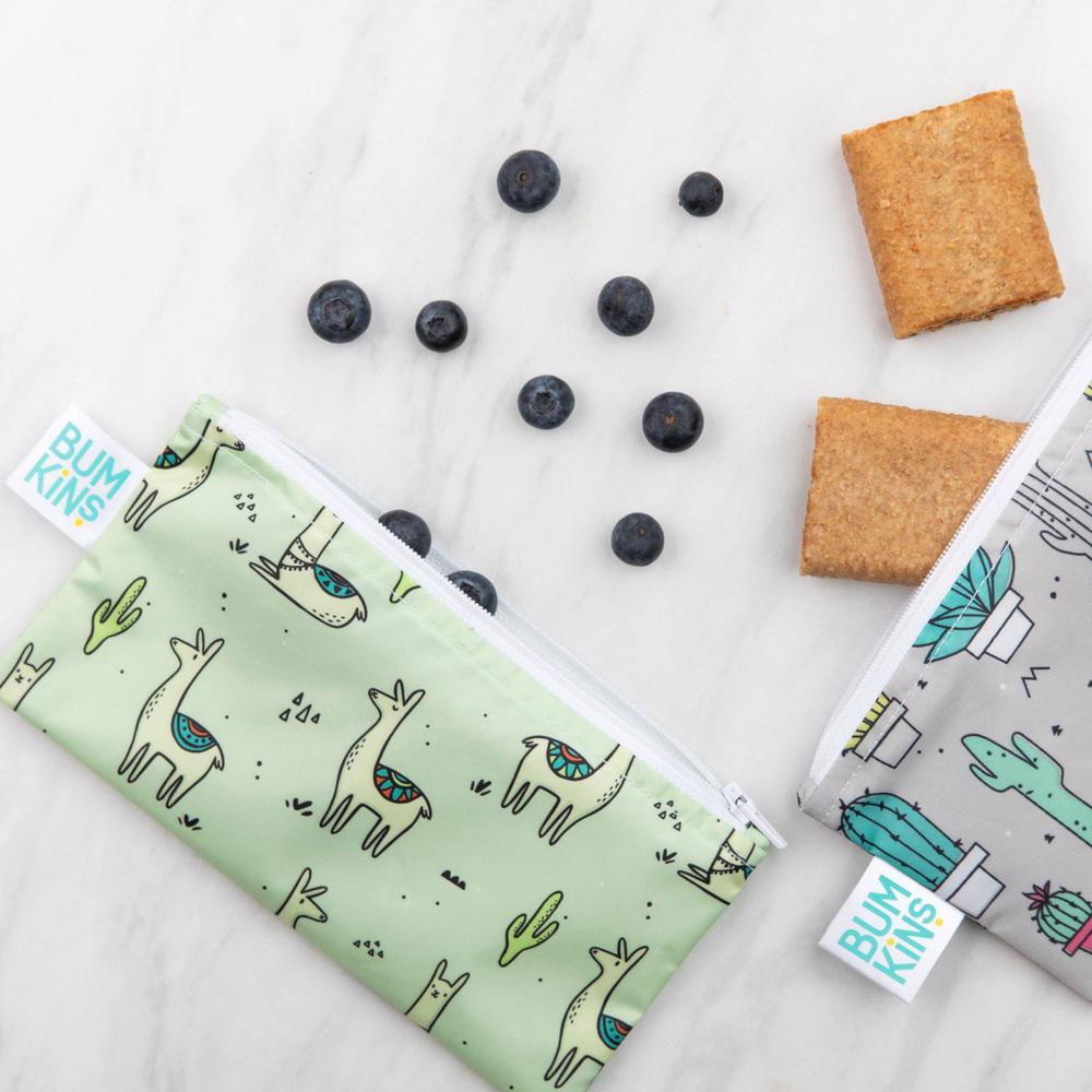 Bumkins: Small Snack Bag - Cacti/Llama (2 Pack) image