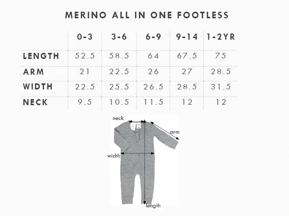Babu: Merino Footless All in One - Tui Green (3-6m) image