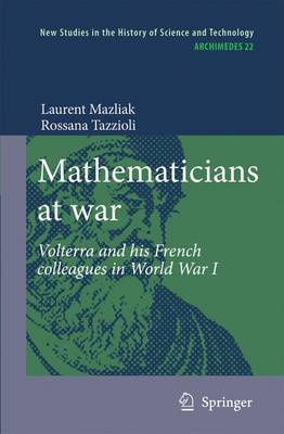 Mathematicians at war by Laurent Mazliak