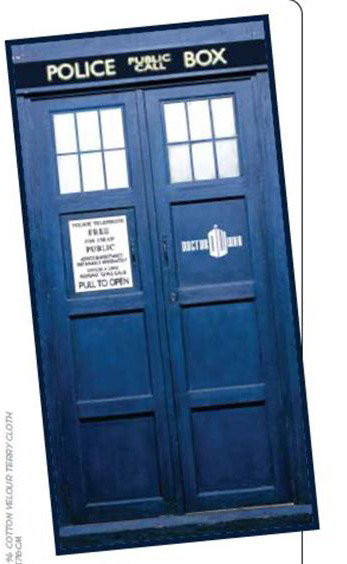 Doctor Who TARDIS Cotton Beach Towel