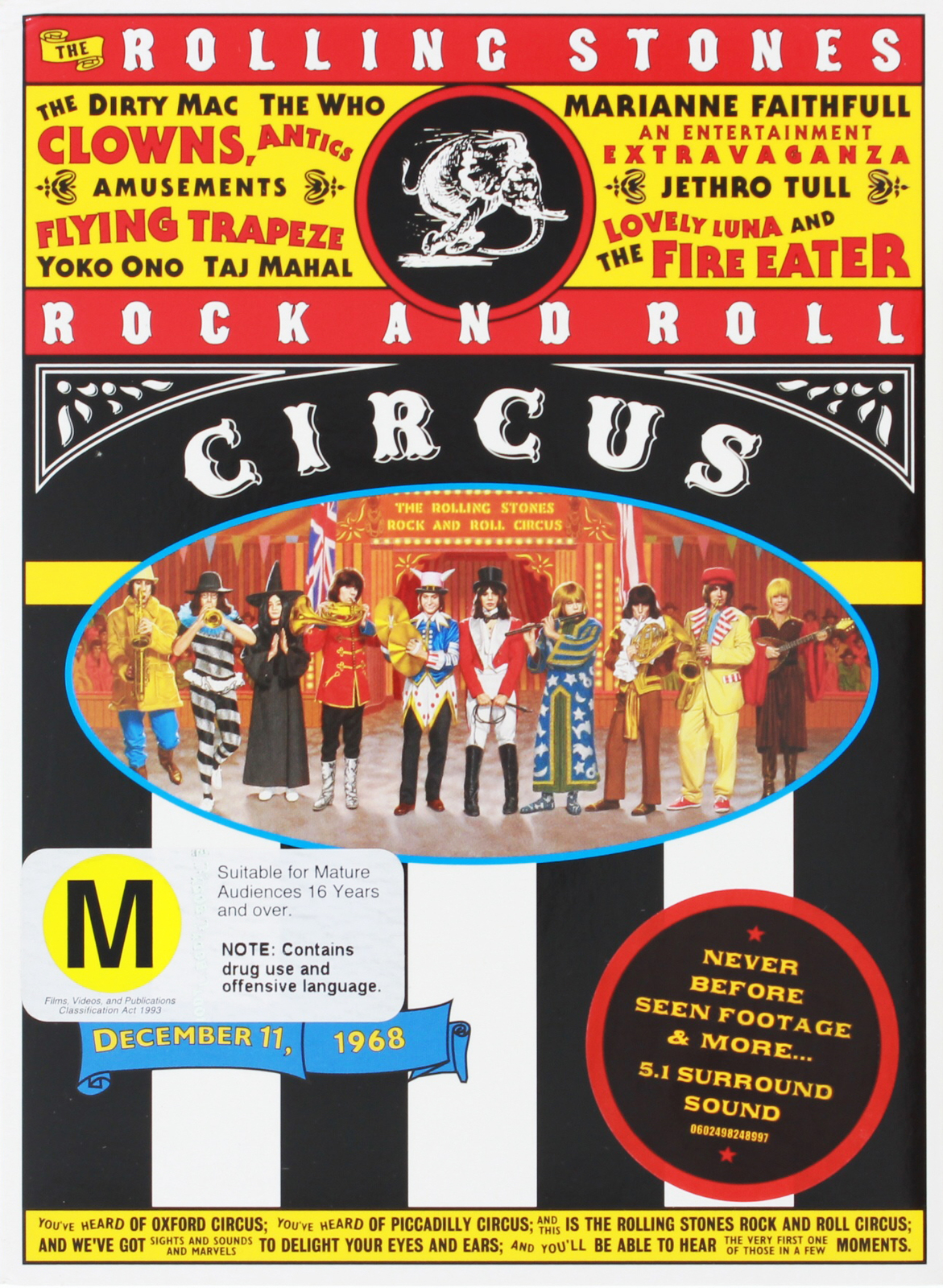 Rolling Stones: Rock & Roll Circus on DVD image