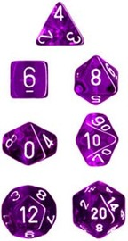 Chessex Translucent Polyhedral Dice Set - Purple