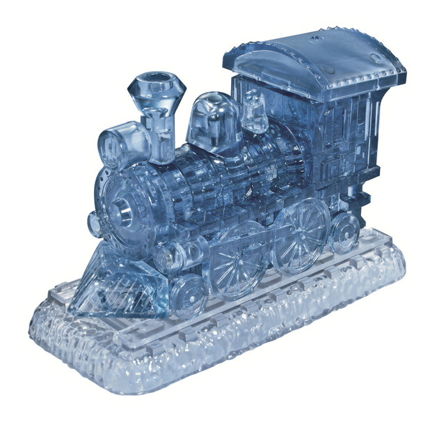 Crystal Puzzle - Smoke Blue Train