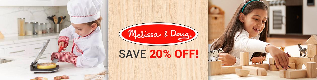 20% off Melissa & Doug