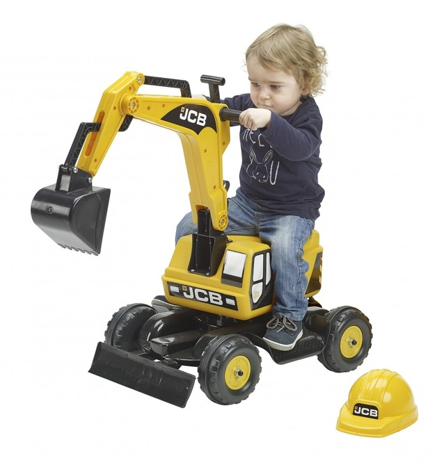 JCB: Excavator and Helmet