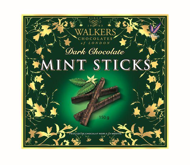 Walkers Dark Choc Mint Sticks 150g