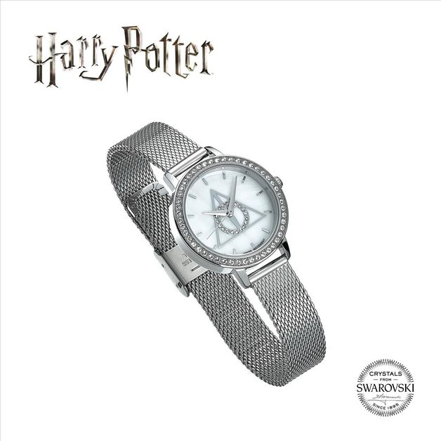 The Carat Shop: Harry Potter Deathly Hallows Silver Watch Embellished with Swarovski Crystals